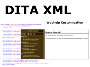 DITA webhelp customisation using ditac