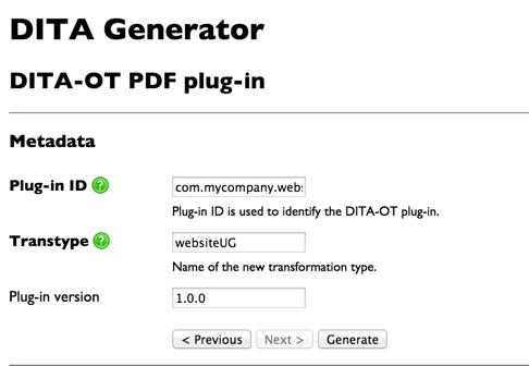 DITA pdf plugin transtype