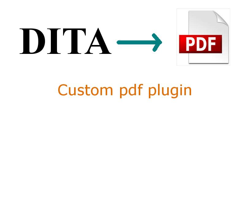 dita to pdf custom plugin